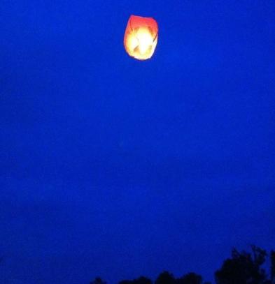 Floating lanterns in the sky, happy birthday!