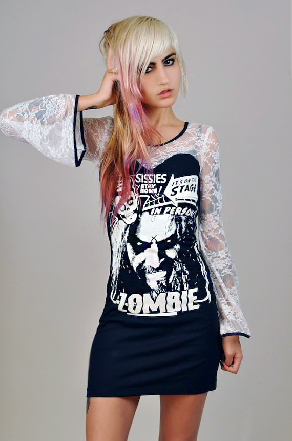 Rob Zombie on a hippy style dress? Does life get any better than this!