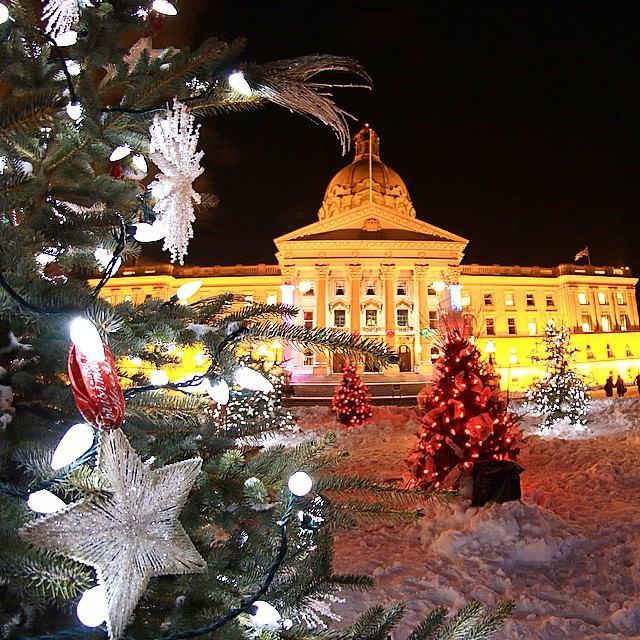 Edmonton Legislature grounds.